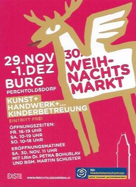 Jubiläum für den Weihnachtsmarkt in Perchtoldsdorf