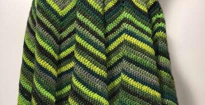 Ein Zipfelrock in grün